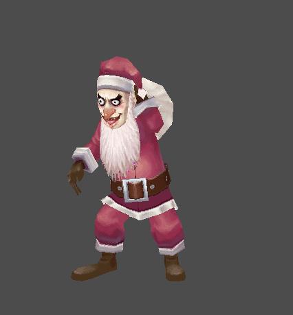 Street Bum Santa